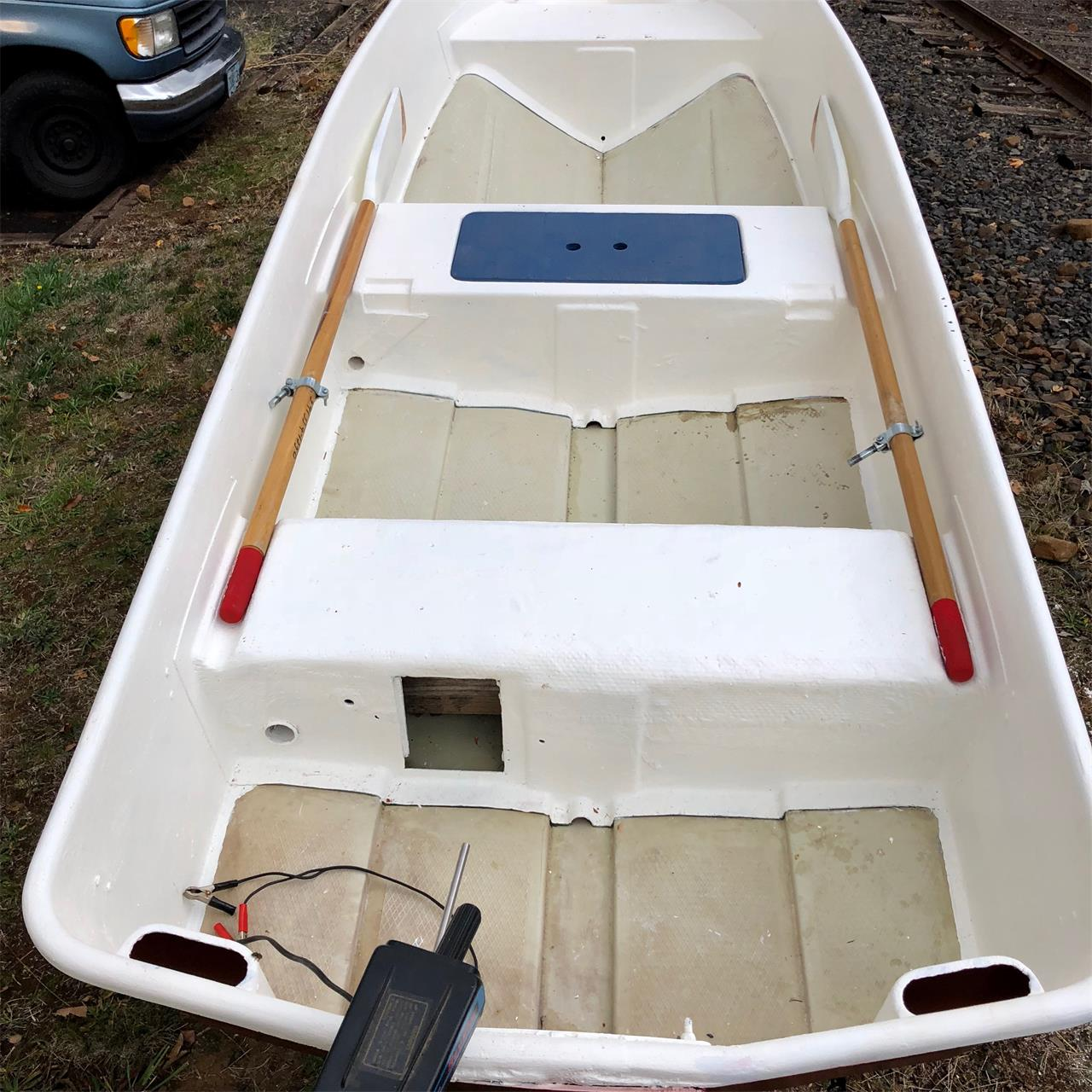 Sears Gamefisher 12 Fiberglas On Great Trailer Excboat Gorgenet